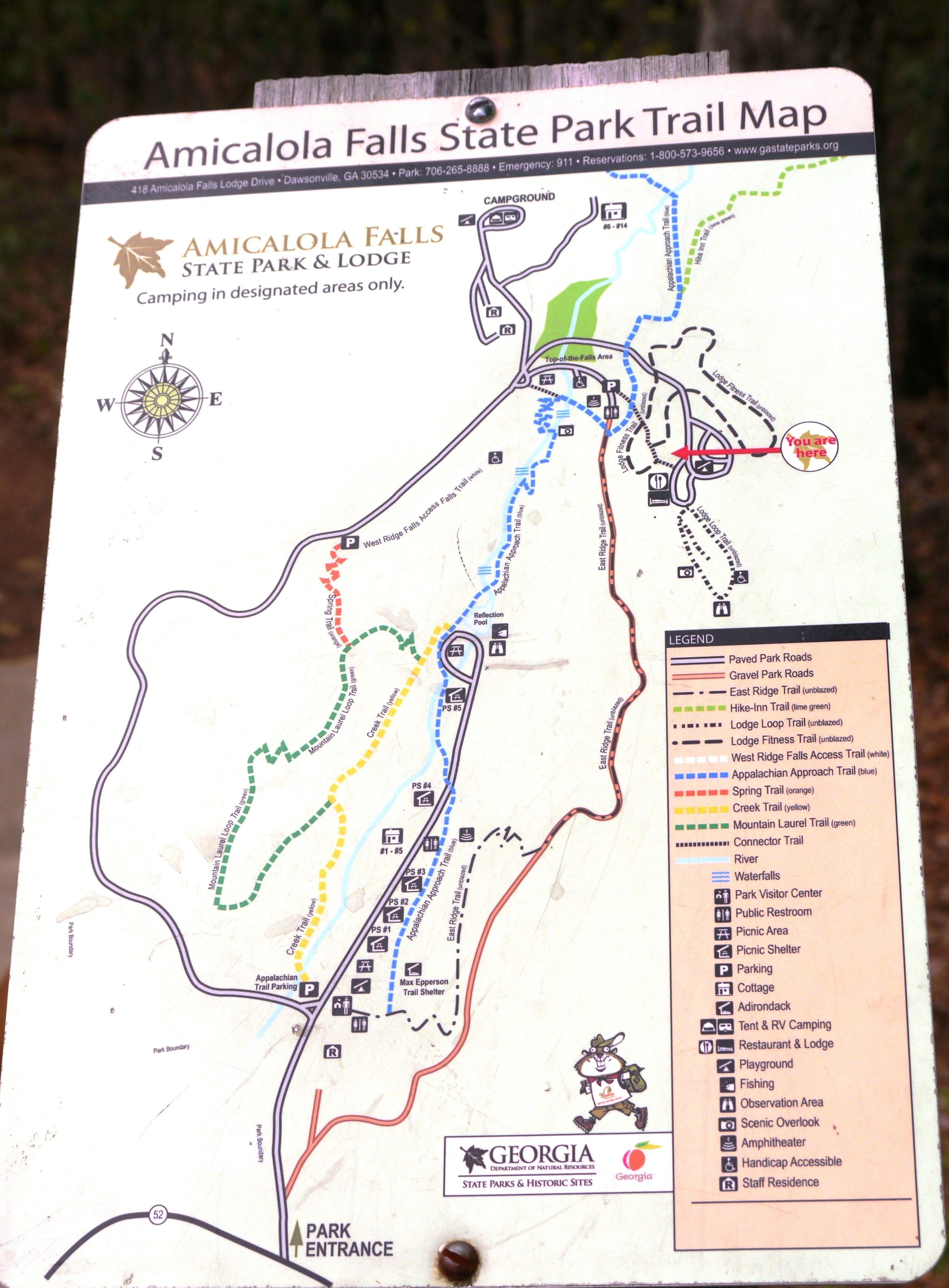 Amicalola Falls Map : amicalola, falls, Amicalola, Falls, State, Maping, Resources