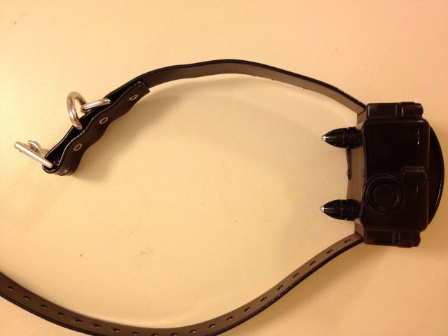 This shock collar is made by a company called PetSafe