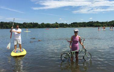 "Bonus points for ""swimming"" #13 Lake Nokomis Beach"