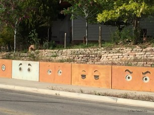 I'm not sure what this retaining wall is watching.