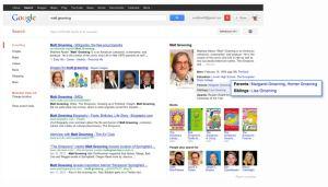 """Página de resultados para la búsqueda """"Matt Groening"""""""