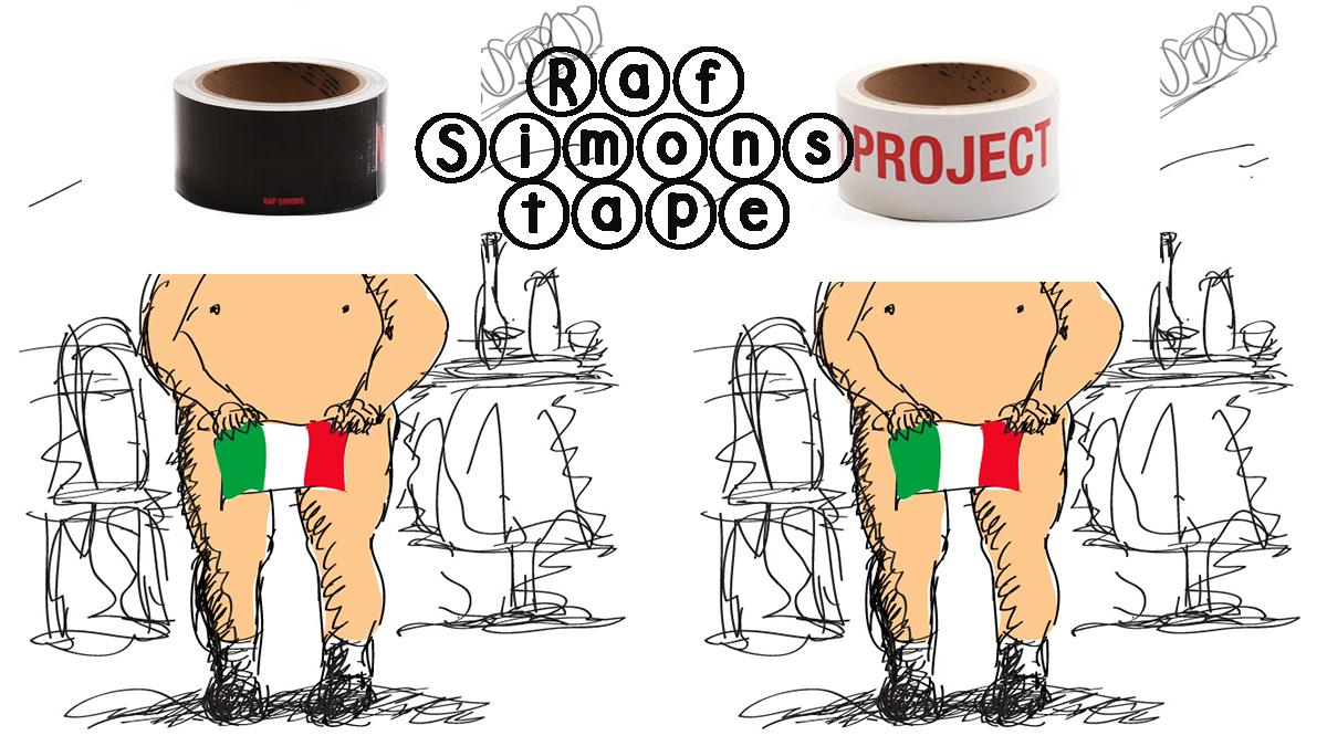 Raf Simons 推出價值美金 $200 大元的膠紙 - Eilly