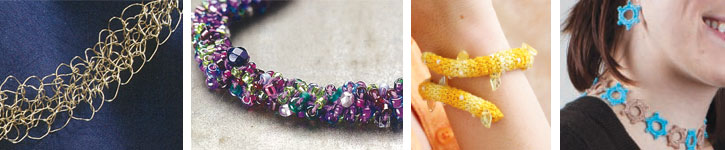 Discover each unique design for crocheted jewelry.