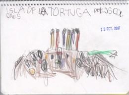 Dibujo de la Isla de la Tortuga