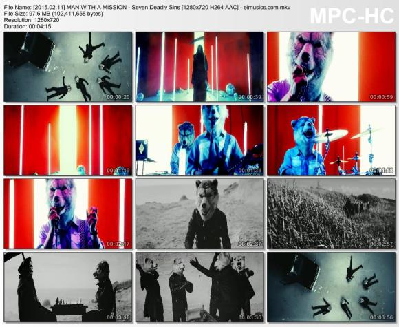 Download MAN WITH A MISSION - Seven Deadly Sins [720p]   [PV]
