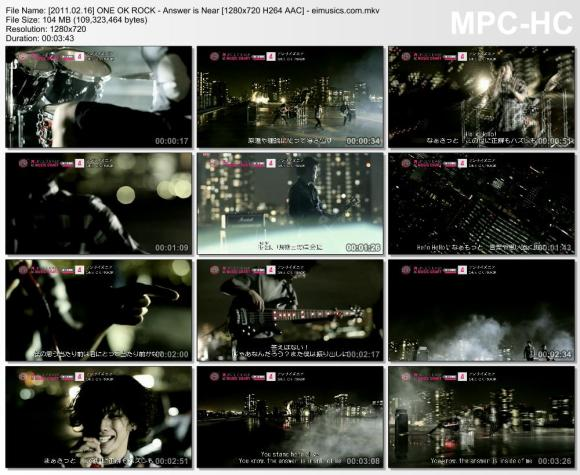 Download ONE OK ROCK - Answer is Near [720p]   [PV]