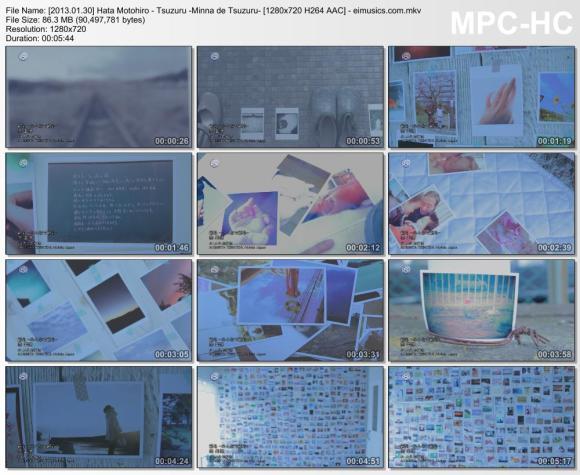 Download Hata Motohiro - Tsuzuru -Minna de Tsuzuru- [720p]   [PV]