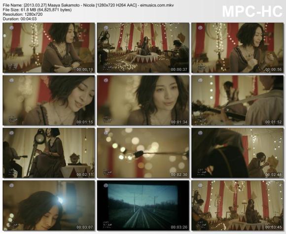 Download Maaya Sakamoto - Nicola [720p]   [PV]