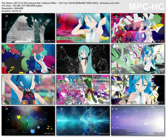 Download livetune feat. Hatsune Miku - Tell Your World [480p]   [PV]
