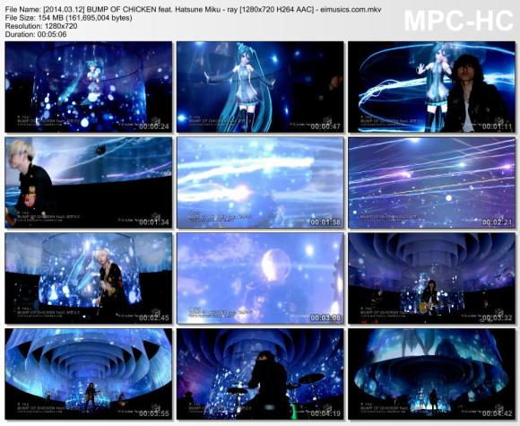 Download BUMP OF CHICKEN feat. Hatsune Miku - ray [720p]   [PV]