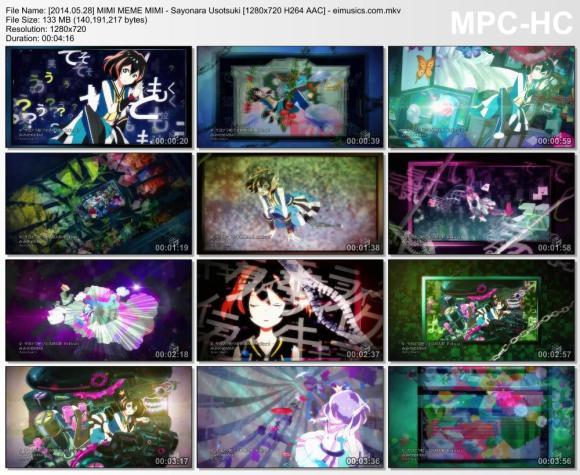 Download MIMI MEME MIMI - Sayonara Usotsuki [720p]   [PV]