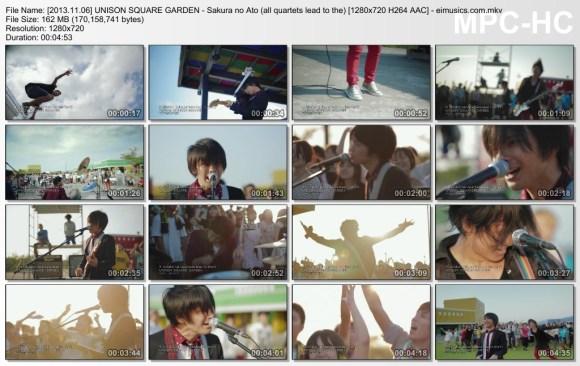 Download UNISON SQUARE GARDEN - Sakura no Ato (all quartets lead to the?) [720p]   [PV]