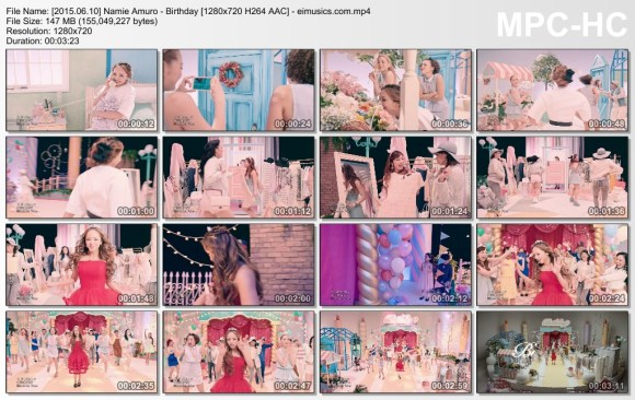 Download Namie Amuro - Birthday [720p]   [PV]