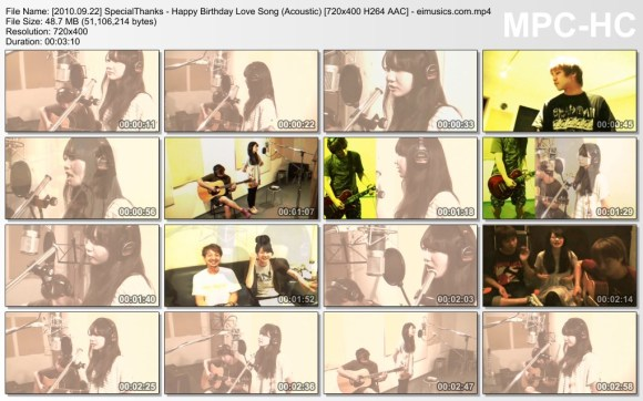 SpecialThanks - Happy Birthday Love Song (Acoustic)