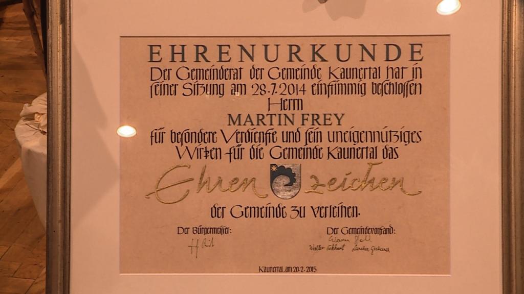 Ehrenzeichen Martin Frey1