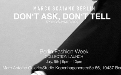 MARCO SCAIANO BERLIN – COLLECTION LAUNCH