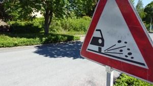 Vorsicht, Split auf der Straße. Foto: Frank Bertram