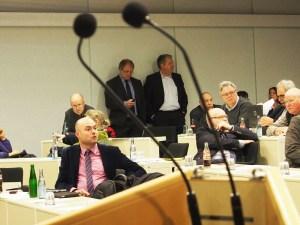 Dr. Olaf Städtler und Norbert Mischer in der Januar-Kreistagssitzung.