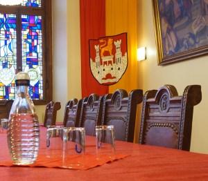 Sitzungssaal im Alten Rathaus.
