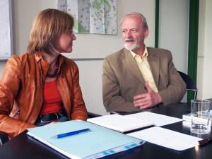 Dr. Sabine Michalek und Günther Leichtfried.