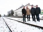 Besuch des heutigen Wirtschaftsministers Olaf Lies drei Tage vor den Landtagswahlen am Bahnhof Einbeck im Schnee.