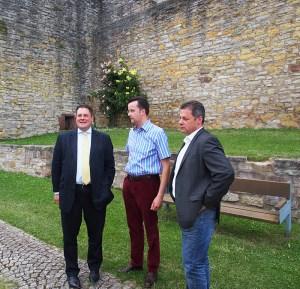 Auf der Heldenburg: Patrick Döring, Christian Grascha, Dirk Ebrecht (v.l.).