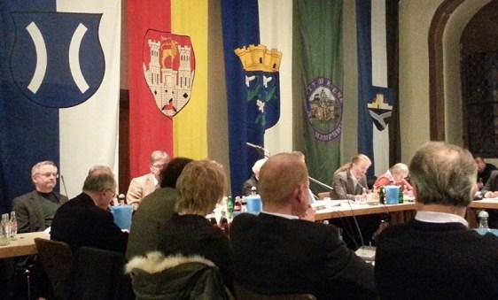 Dr. Schröder heute in der Ratssitzung.