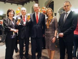 Bier-Botschafter: Barbara und Lothar Gauß, Stephan Weil, Sabine und Wolfgang Michalek.
