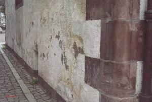 Schäden an der Ostfassade des Alten Rathauses. Foto: SPD