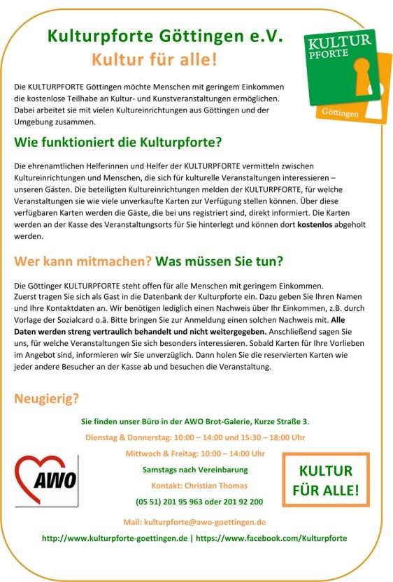 (c) Flyer des Vereins Kulturpforte Göttingen.