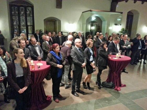 Erstmals fand beim Eulenfest in der Rathaushalle ein Empfang für alle fünf Partnerstädte Einbeck statt.