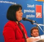Astrid Klinkert-Kittel stellte sich der SPD vor, rechts Vorsitzender Uwe Schwarz.