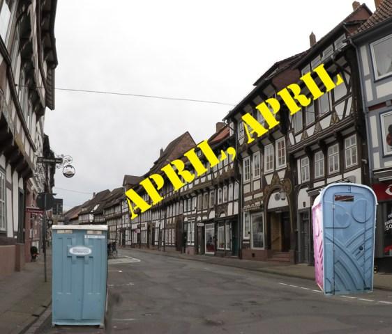 Die Tiedexer Straße soll zur Magistrale der Baukultur werden, aber nicht der WC-Kultur. Fotomontage