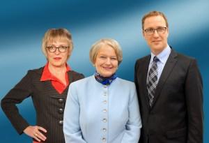 High Heels? Hausschuhe? Heute diskutieren (v.l.) Heidrun Hoffmann-Taufall, Elisabeth Motschmann, Dr. Roy Kühne.