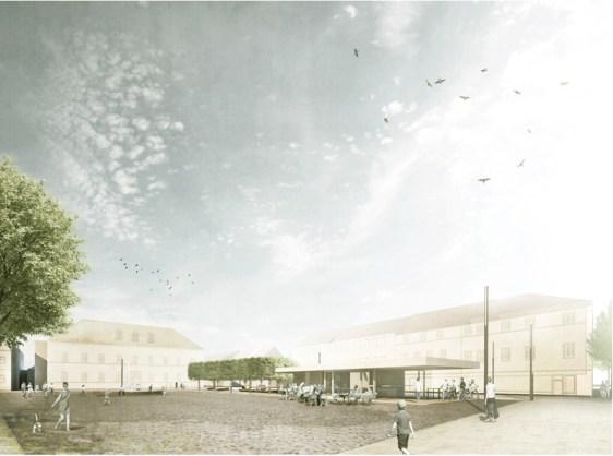 Sieger-Entwurf, hier der Blick in Richtung Amtsgericht. (c) Planorama, Berlin