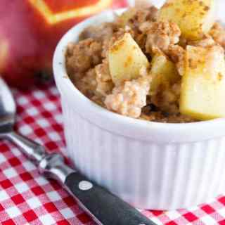 Schneller Applepie Oatmeal Pudding