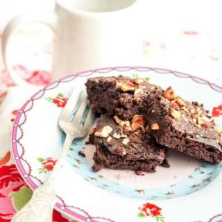 Brownies mit schwarzen Bohnen
