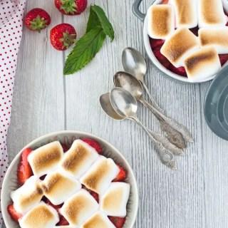 Minz-Erdbeeren mit Marshmellows