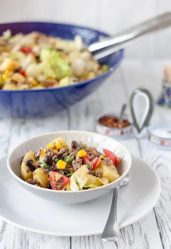 Mexikanischer Kartoffelsalat und Urlaubsbilder
