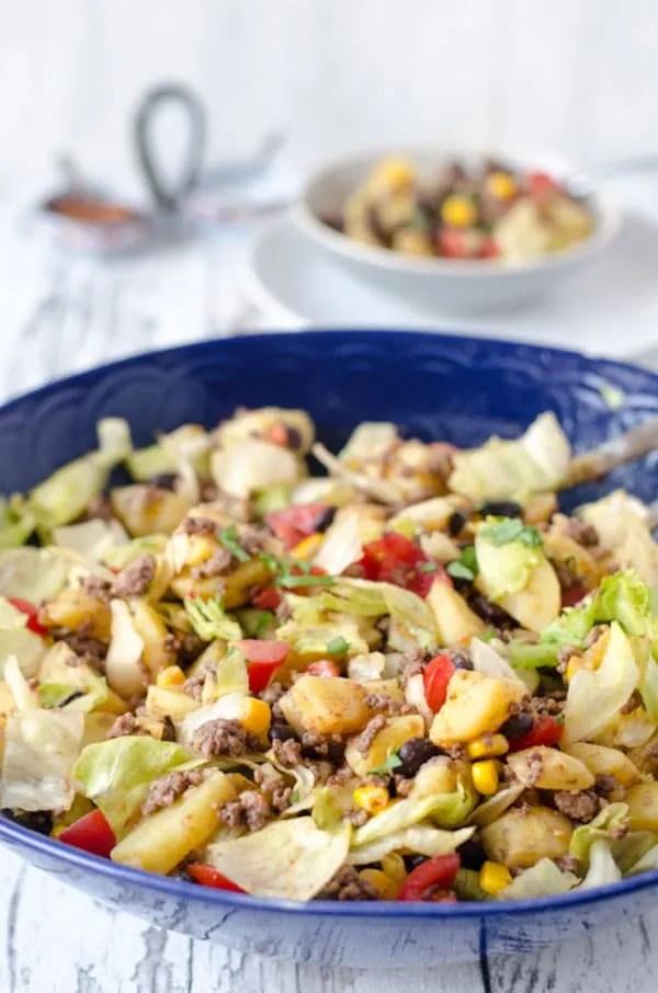 mexikanischer Kartoffelsalat, würzig, aromatisch, einfach gut. //mexican potatosalad. Recipe also in english!