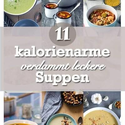 Elf leckere, kalorienarme Suppen