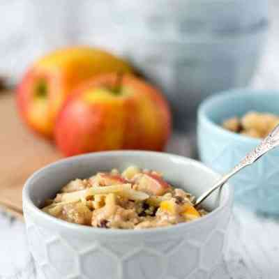 5 Minuten Bratapfel-Oatmeal-Pudding