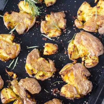 Smashed Potatoes – zertrümmerte Kartoffeln aus dem Ofen