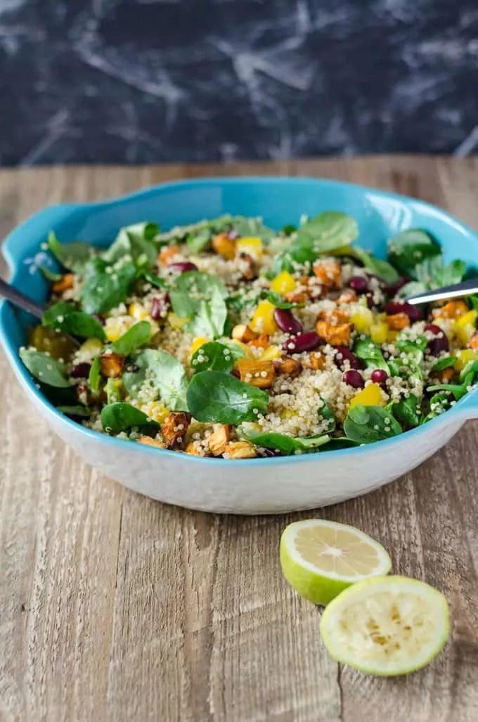 quinoa s kartoffel salat gesunder sattmacher eine prise lecker. Black Bedroom Furniture Sets. Home Design Ideas