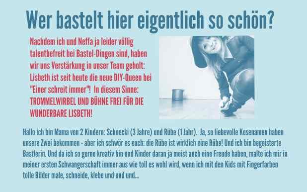 """Die neue Bastel-Queen bei """"Einer schreit immer"""": Lisbeth"""