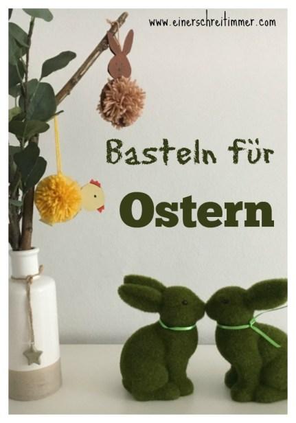 Basteln für Ostern: flauschige Häschen und Küken