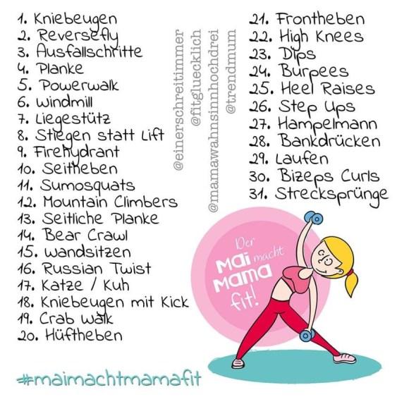 Instagram Fitness Challenge: Mai macht Mama fit