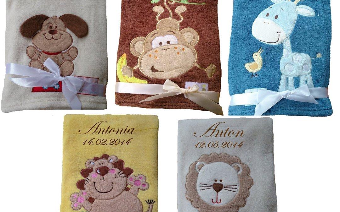 Geschenkidee Babydecke mit Namen