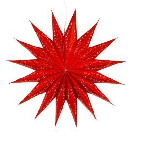 Der schöne Stern sorgt für ein weihnachtliches und gemütliches Ambiente. Maße: ca. 60 cm Ø, 19 cm tief, Material: Papier.<br>