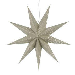 Der schöne Stern sorgt für ein weihnachtliches und gemütliches Ambiente. Maße: ca. 61 cm Ø, 18 cm tief, Material: Papier.<br>